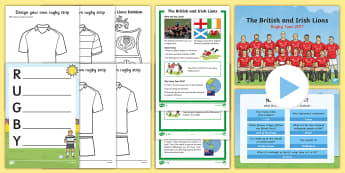 KS1 The Lions Tour Resource Pack  - rugby, british and irish lions, new zealand, tour, rugby union,