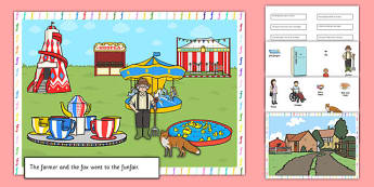 Silly F Sentence Cut and Stick Pictures - silly f, sentence, cut and stick, pictures