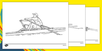 The Olympics Rowing Colouring Sheets - Rowing, Olympics, Olympic Games, sports, Olympic, London, 2012, colouring, fine motor skills, poster, worksheet, vines, A4, display, activity, Olympic torch, events, flag, countries, medal, Olympic Rings, mascot