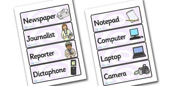 Newspaper Office Role Play Labels - newspaper, office, role play, labels newspaper lables, newspaper office, newspaper role play, role play labels