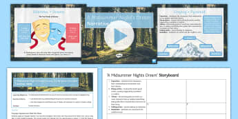 A Midsummer Night's Dream Lesson Pack  - A Midsummer Night's Dream, narrative structure