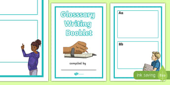 Glossary Writing Booklet Template - glossary, writing, write, booklet, template