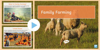 The Importance of Family Farming Information PowerPoint - agriculture, industry, growth ,production, import, export