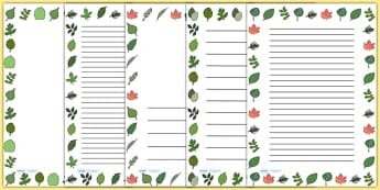 Leaf Page Borders - leaf, leaves, plants, flowers, borders, page