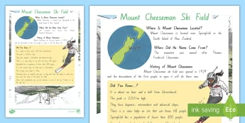 Mount Cheeseman Ski Field Fact File - New Zealand, Winter, Seasons, Snow, Skiing, Snowboarding, Mountains, Ski Fields, Snow Day, Mount Che