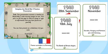 World War Two Complete the PowerPoint Activity - world war two, ww2, world war 2, world war two powerpoint activity, word war two powerpoint, ww2 activity
