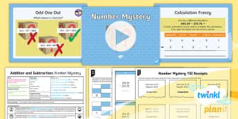 PlanIt Y4 Addition and Subtraction Lesson Pack Formal Written Methods (6) - columnar subtraction, column subtraction,differentiated, loop cards,  four digits, decimal number su