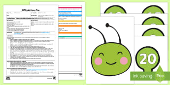 EYFS Build a Caterpillar Adult Input Plan and Resource Pack - Number, ELG, mathematics, early years, EYFS Planning, Adult led, teaching, teacher led, lesson plans