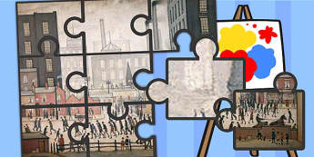 LS Lowry Coming from the Mill Picture Puzzle - puzzles, artists