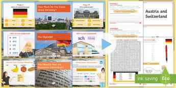 Starter Lesson Pack German -  seconadry, Essential, Skills,  Introduction, Transcription, Engaging,German