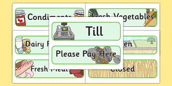 Farm Shop Role Play Signs - Farm Shop Role Play, signs, farm shop resources, farm, milk, cheese, eggs, till, animals, meat, cheese, living things, butcher, role play, display, poster