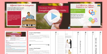 Evangelism and Other Religions Lesson Pack - Evangelism, missionary work, rs, re, ks4