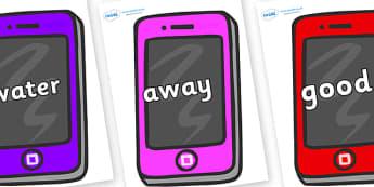 Next 200 Common Words on Mobile Telephones - Next 200 Common Words on  - DfES Letters and Sounds, Letters and Sounds, Letters and sounds words, Common words, 200 common words