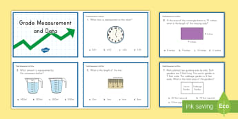3rd Grade Measurement and Data Online Assessment Practice Activity - common core, math, measurement and data,