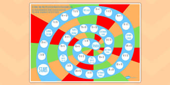 10 Times Table  Multiplication And Division Board Game - activity