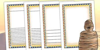 Ancient Egyptian Themed Writing Frames - egypt, ancient egypt
