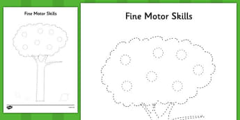 Tree Fine Motor Skills Activity Sheet Pack - tree, fine motor skills, activity, worksheet