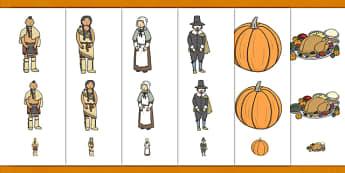 Thanksgiving Size Ordering - order, activity, sizes, worksheet