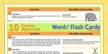 10 Creative Ways to Use Word Cards - word, cards, creative, use