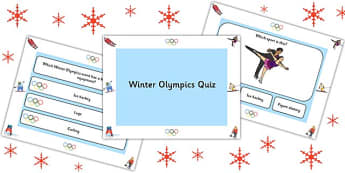 Winter Olympics PowerPoint Quiz - olympic, winter, sport, quiz