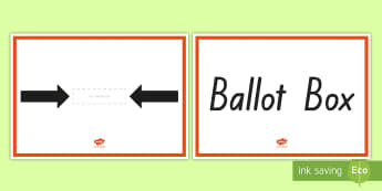 Make a Ballot Box Activity - New Zealand, 2017 Elections, Government, National, Greens, Labour, New Zealand First, Parliament, Ma