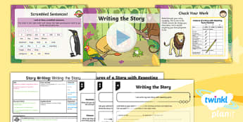 PlanIt Y1 Animals: to Support Teaching on Dear Zoo Lesson Pack Story Writing (2) - Dear Zoo, animals, stories, repeating parts, plan, write, edit