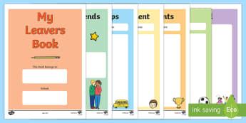 School Leavers Scrapbook - Year 6 End of Year Leavers Activities