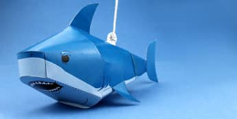 Paper Craft Shark (Under the Sea) - crafts, craft activities, fine motor skills