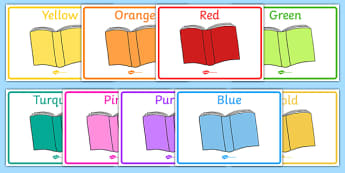 Editable Guided Reading Group Signs (Coloured Books) - Books, books, group signs, group labels, group table signs, table sign, teaching groups, class group, class groups, table label