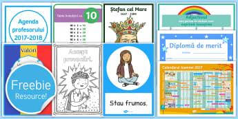 Pachet cu materiale didactice gratuite - Romania, Resource Pack, Teaching, Twinkl, Sample,