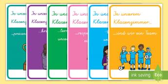 In unserem Klassenzimmer Poster für die Klassenraumgestaltung - In unserem Klassenzimmer Wortschatz mit Bildern, In unserem Klassenzimmer, Klassenzimmer, Klassrenra