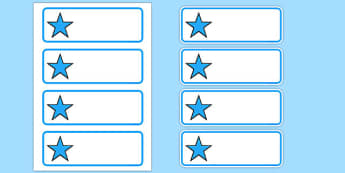 Editable Blue Stars Drawer, Peg, Name Labels - Editable Label Templates, star, stars, Resource Labels, Name Labels, Editable Labels, Drawer Labels, Coat Peg Labels, Peg Label, KS1 Labels, Foundation Labels, Foundation Stage Labels, Teaching Label
