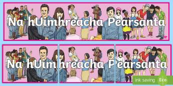 Na hUimhreacha Pearsanta Display Banner - duine, beirt, counting people, mé féin, grammar,Irish