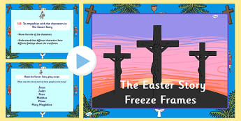 The Easter Story Freeze Frames Task Setter - easter, easter story
