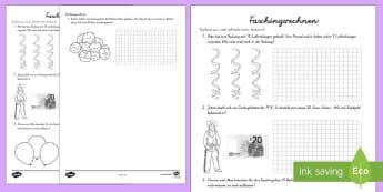 Fasching Sachaufgaben Subtrahieren Arbeitsblatt - Karneval, Fasching,  Mathematik, 1./2. Klasse, Sachaufgaben, Rechengeschichten, Subtrahieren,German