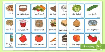 Nahrungsmittel Wortschatz: Wort- und Bildkarten - Nahrungsmittel Wortschatz: Wort-und Bilderkarten, Nahrungsmittel, gesunde ernährung, Ernährungskun