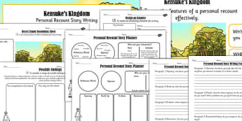 Kensuke's Kingdom Inspired Desert Island Story Writing Lesson Pack