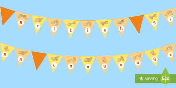 British Sign Language (BSL) Display Bunting - display boards, teacher of the deaf, ToD, sign language