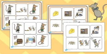 The Town Mouse and the Country Mouse Matching Cards and Board - the town mouse and the country mouse matching game, town mouse and country mouse activity