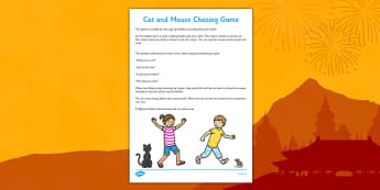 Cat and Mouse Chinese New Year Themed Chasing Game - can and mouse, chinese new year, themed, chasing game