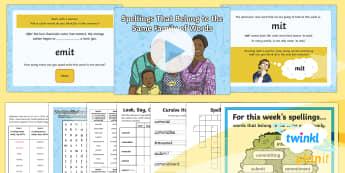 PlanIt Y6 Term 2A W4: Word Families Based on Common Words Spelling Pack - Spellings Year 6, Y6, root, root word, word family, families, mit, SPaG, GPS, spelling, weeks, weekl