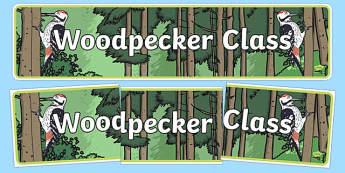 Woodpecker Themed Classroom Display Banner - Themed banner, banner, display banner, Classroom labels, Area labels, Poster, Display, Areas