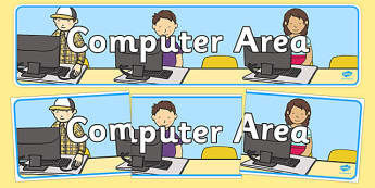 Computer Area Sign - Classroom Area Signs, KS1, ICT, Banner, Foundation Stage Area Signs, Classroom labels, Area labels, Area Signs, Classroom Areas, Poster, Display, Areas, Computer Area, ICT Area