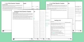 GCSE Exam Question Templates Exam Questions Pack - RS GCSE; Exam Questions, editable, techniques.