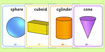 3D Shape Posters - Shape poster, Shape flashcards, Shape recognition, numeracy,geometry,shapes,3d,posters,displays