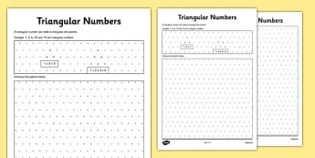 Triangular Numbers on Isometric Dot Paper - CfE, number sequence, patterns, triangular numbers