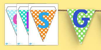 SPaG Display Bunting - spag, display bunting, bunting, classroom display, spag display, display, paper bunting, classroom bunting, bunting for display