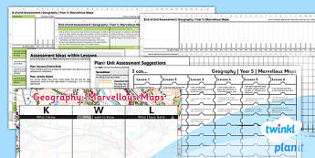 PlanIt - Geography Year 5 - Marvellous Maps Unit Assessment Pack - planit, geography, year 5, marvellous maps, unit, assessment, pack