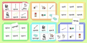 SP Blend Bingo - sp, blend, sound, sen, bingo, game, activity