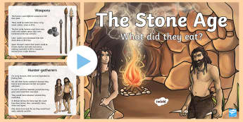 Stone Age Food Lesson PowerPoint - stone age, food, history, ppt